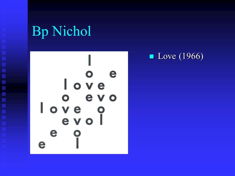 Bp Nichol Love (1966)