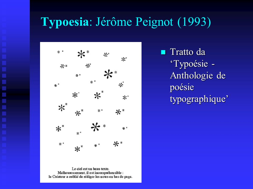 Typoesia: Jérôme Peignot (1993)