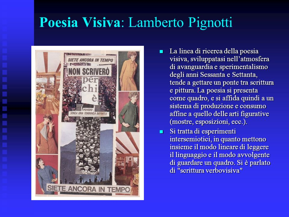 Poesia Visiva: Lamberto Pignotti