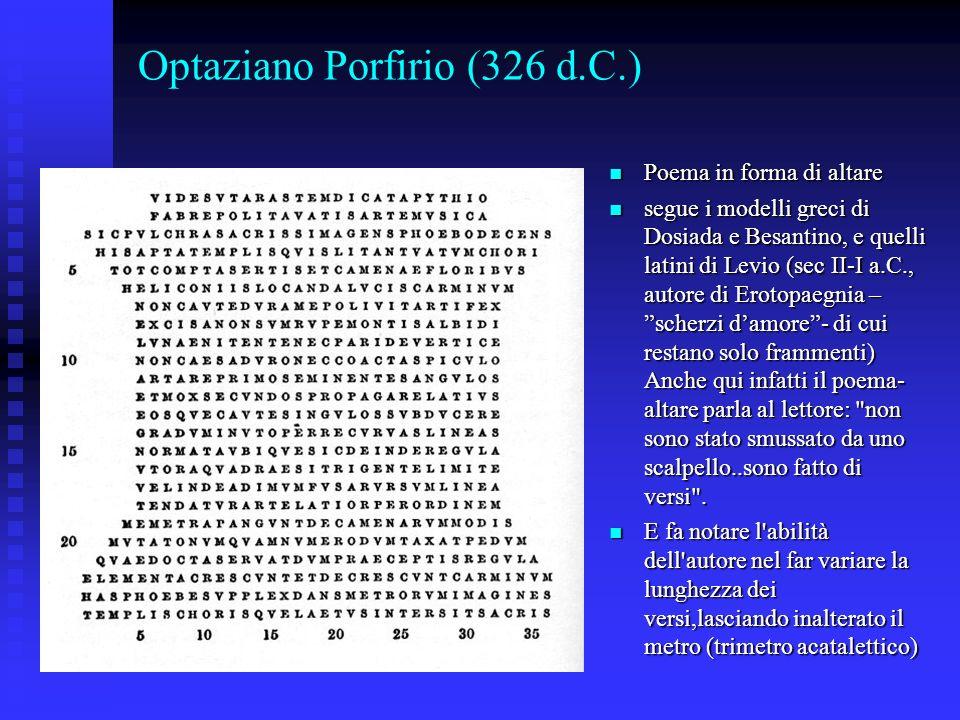 Optaziano Porfirio (326 d.C.)