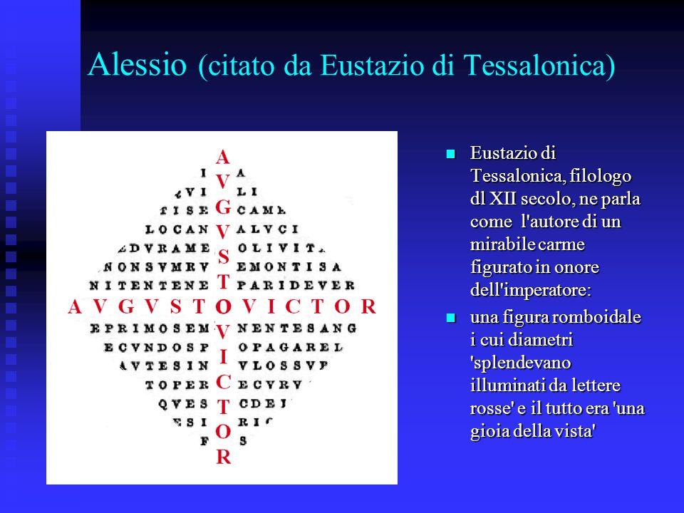 Alessio (citato da Eustazio di Tessalonica)