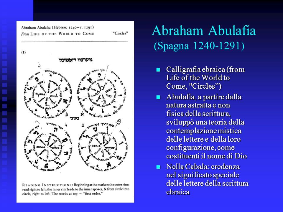 Abraham Abulafia (Spagna 1240-1291)