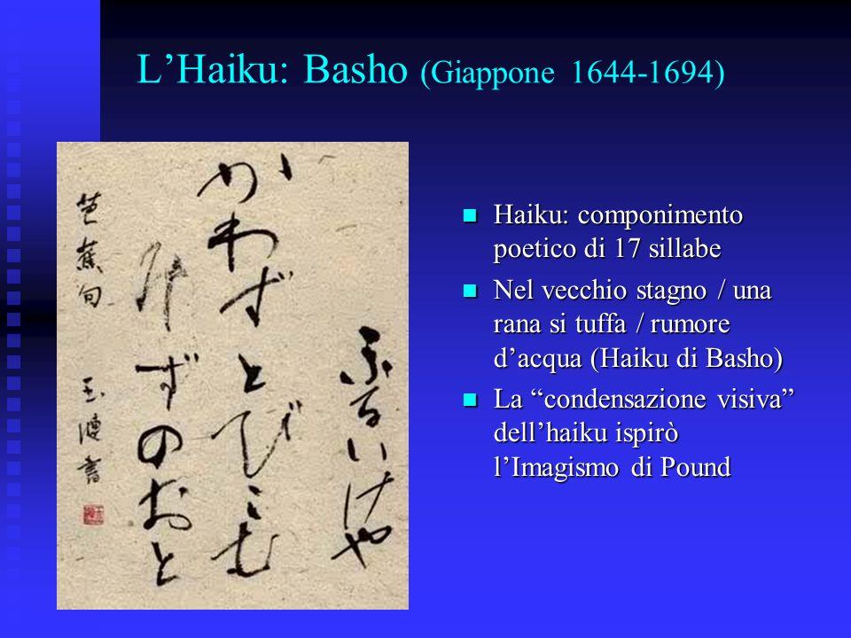 L'Haiku: Basho (Giappone 1644-1694)