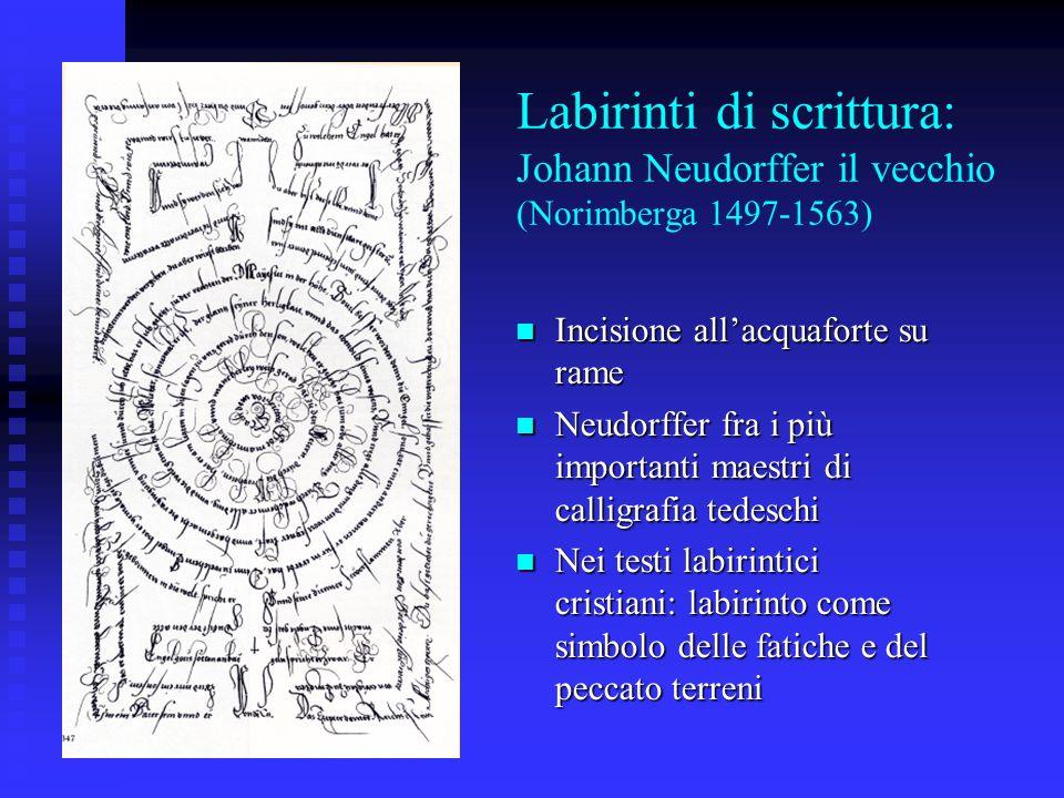 Labirinti di scrittura: Johann Neudorffer il vecchio (Norimberga 1497-1563)