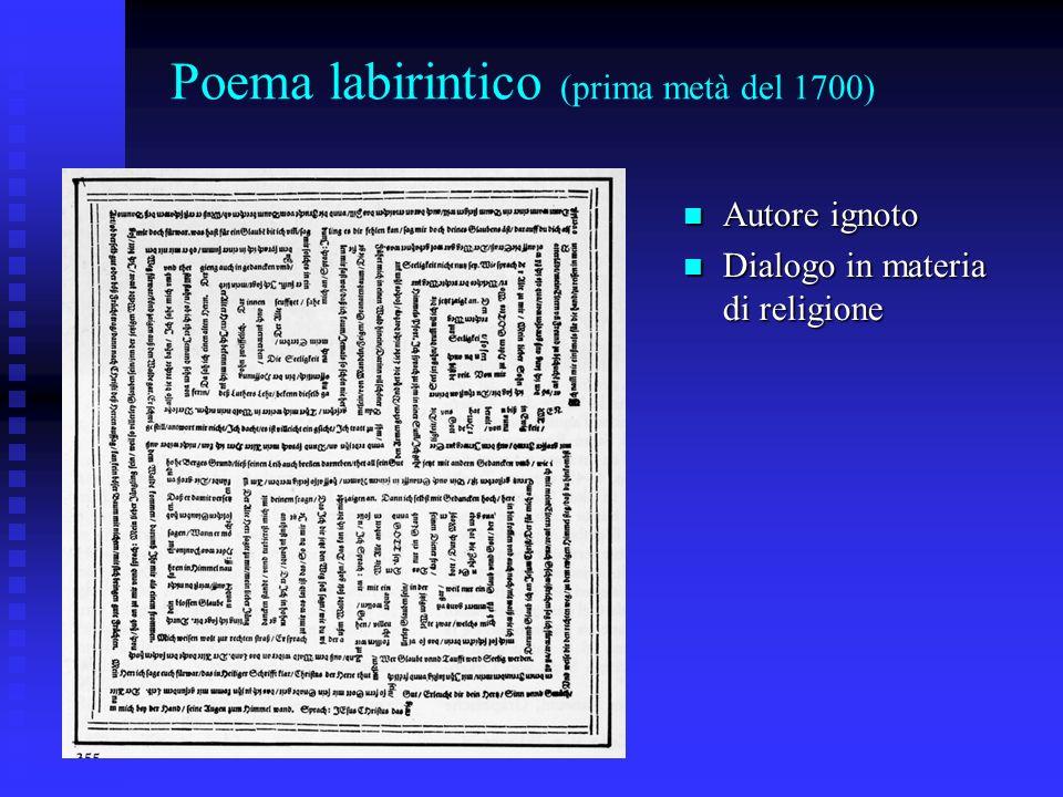 Poema labirintico (prima metà del 1700)