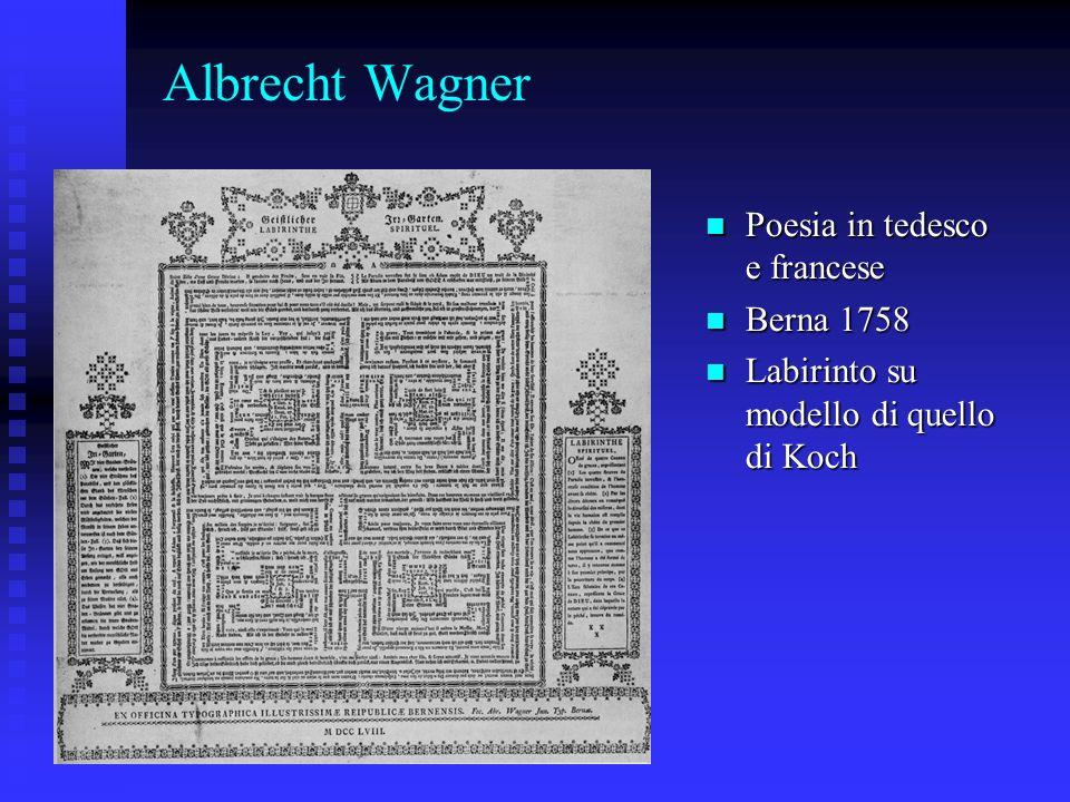 Albrecht Wagner Poesia in tedesco e francese Berna 1758