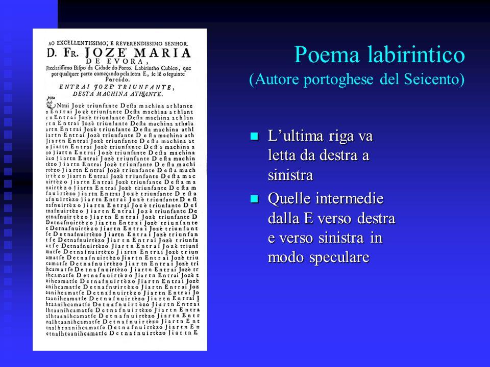 Poema labirintico (Autore portoghese del Seicento)