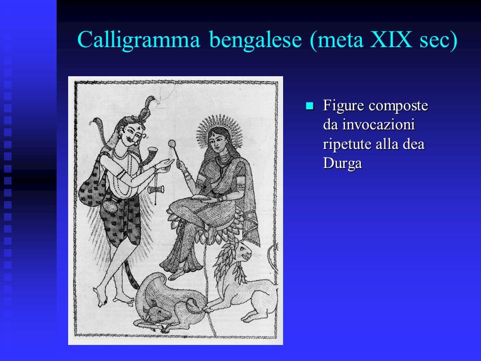 Calligramma bengalese (meta XIX sec)