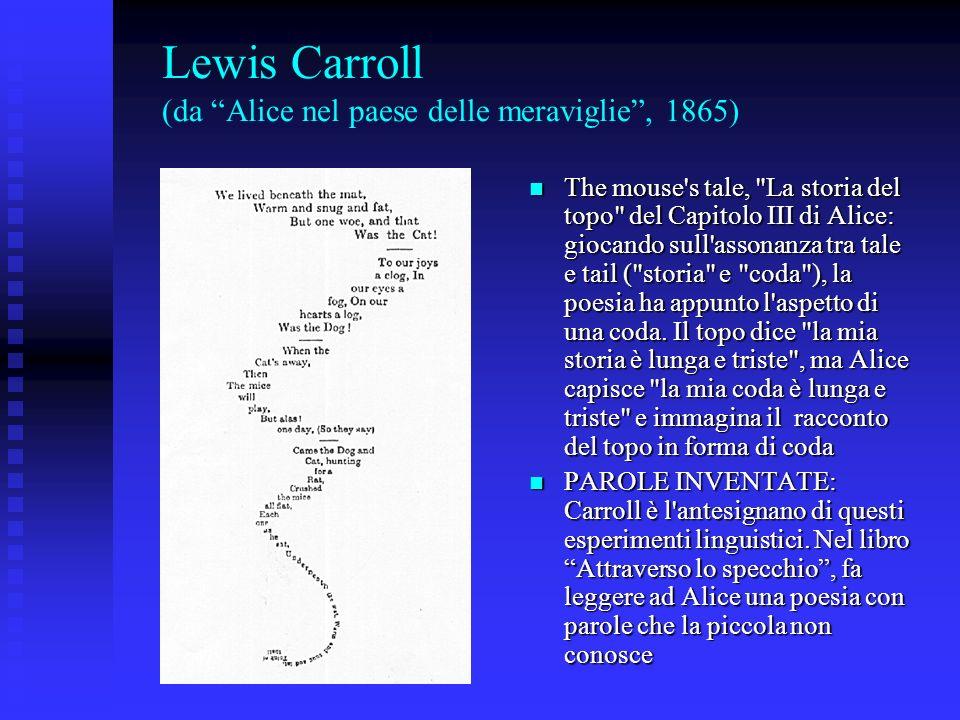 Lewis Carroll (da Alice nel paese delle meraviglie , 1865)
