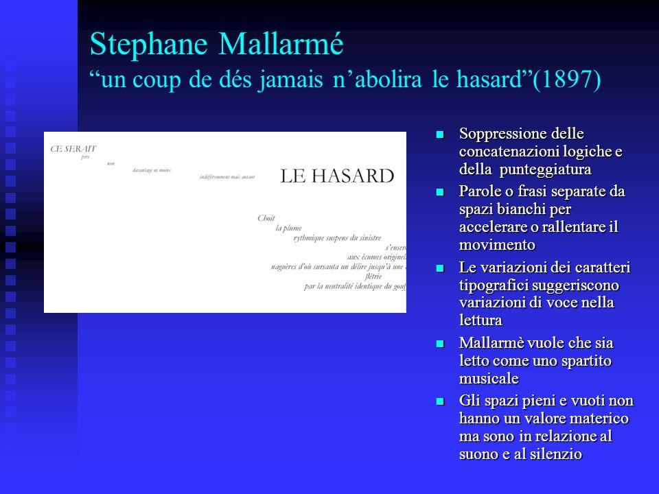 Stephane Mallarmé un coup de dés jamais n'abolira le hasard (1897)