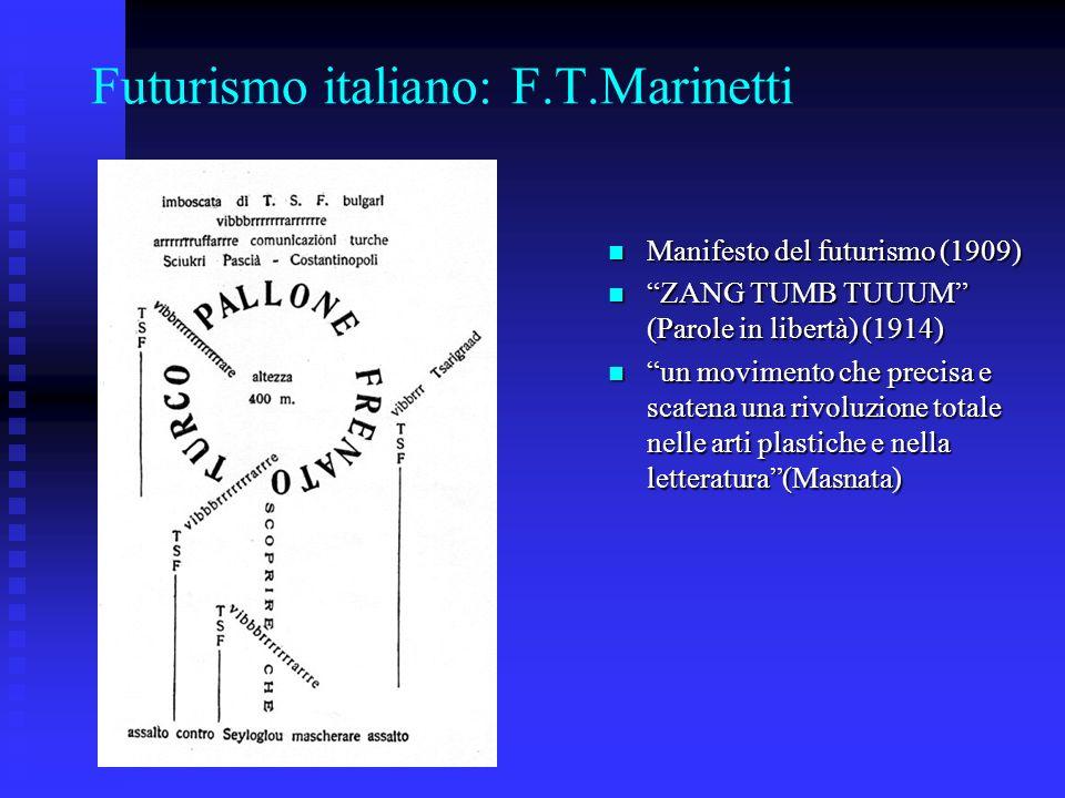 Futurismo italiano: F.T.Marinetti