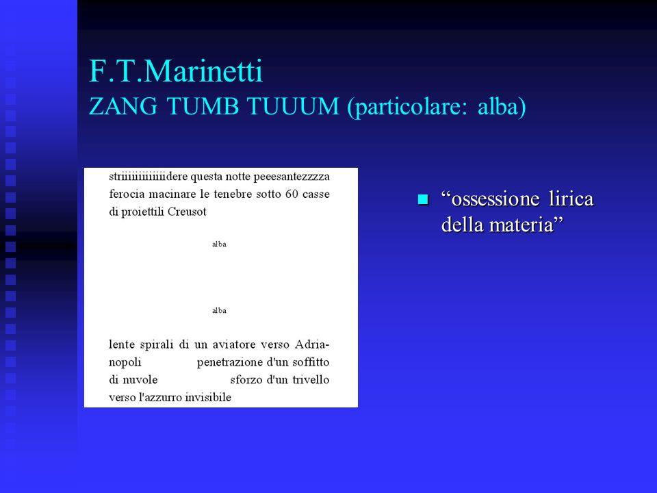 F.T.Marinetti ZANG TUMB TUUUM (particolare: alba)