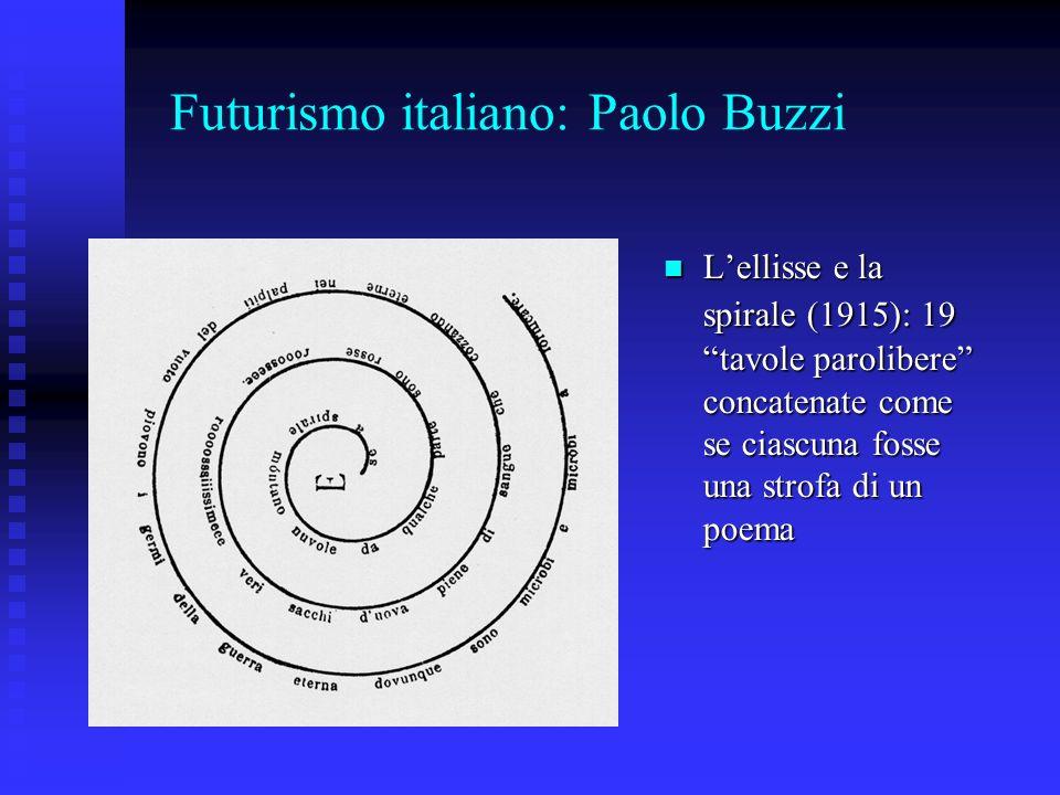 Futurismo italiano: Paolo Buzzi