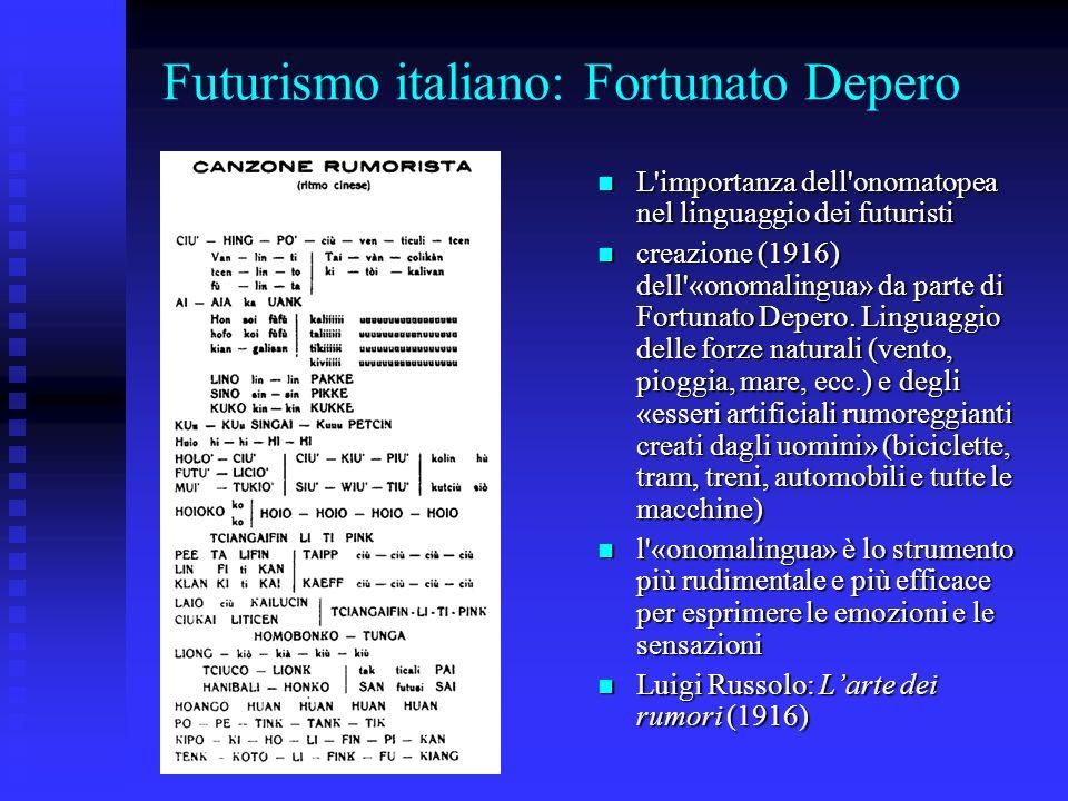 Futurismo italiano: Fortunato Depero