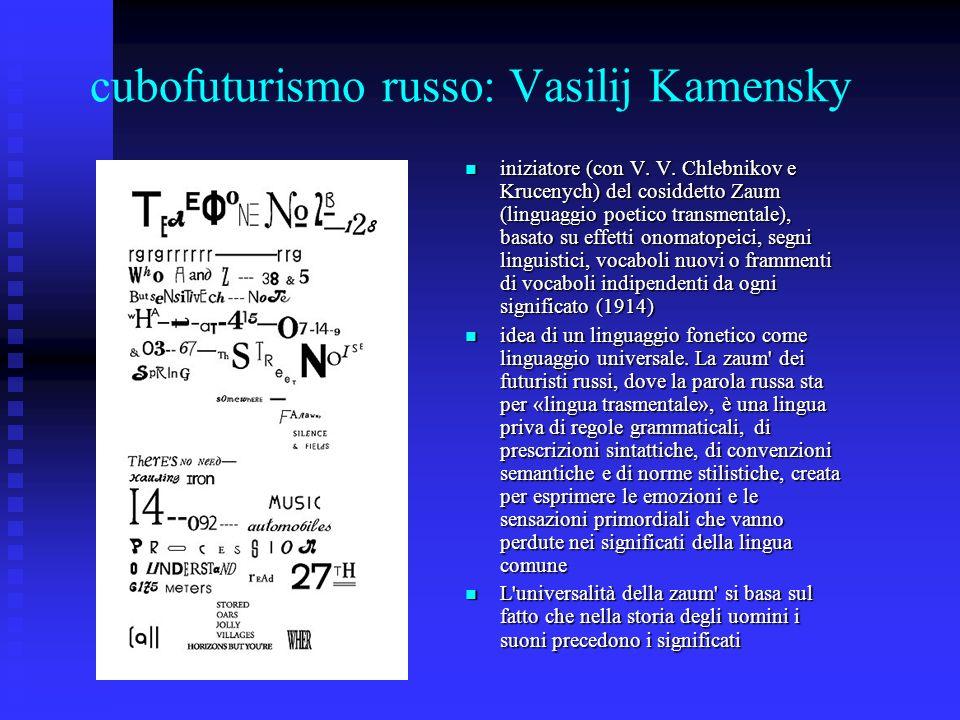 cubofuturismo russo: Vasilij Kamensky