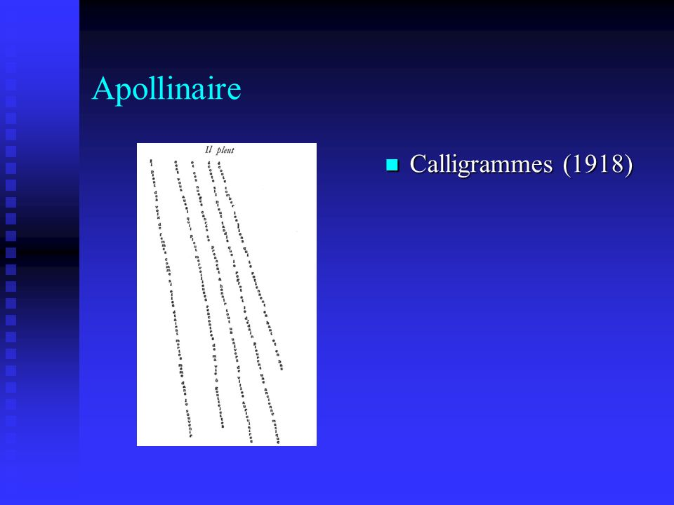 Apollinaire Calligrammes (1918)