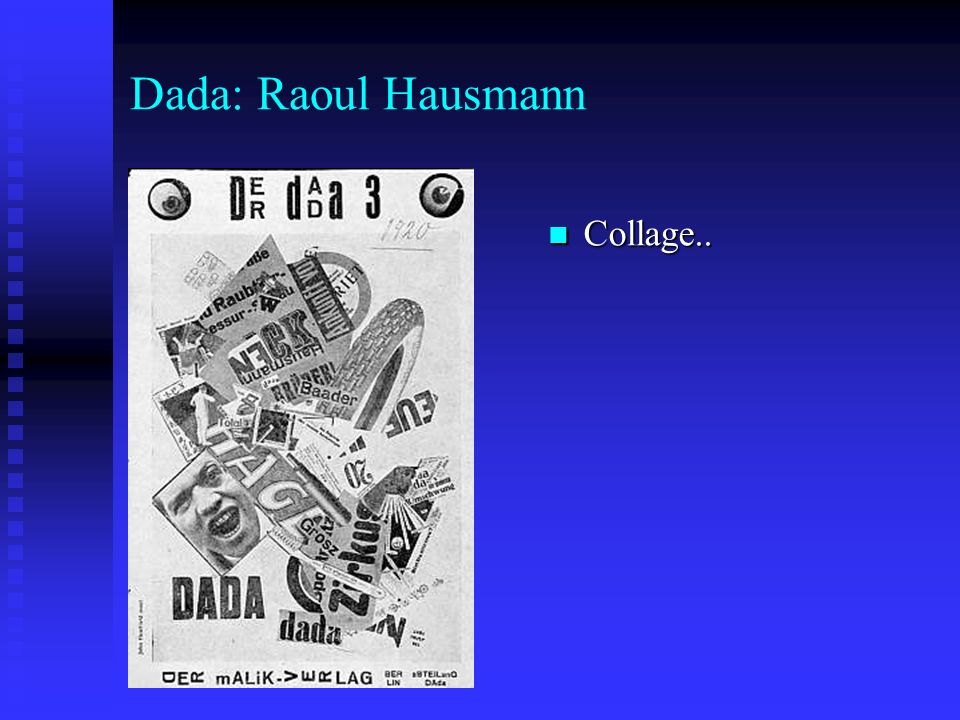 Dada: Raoul Hausmann Collage..