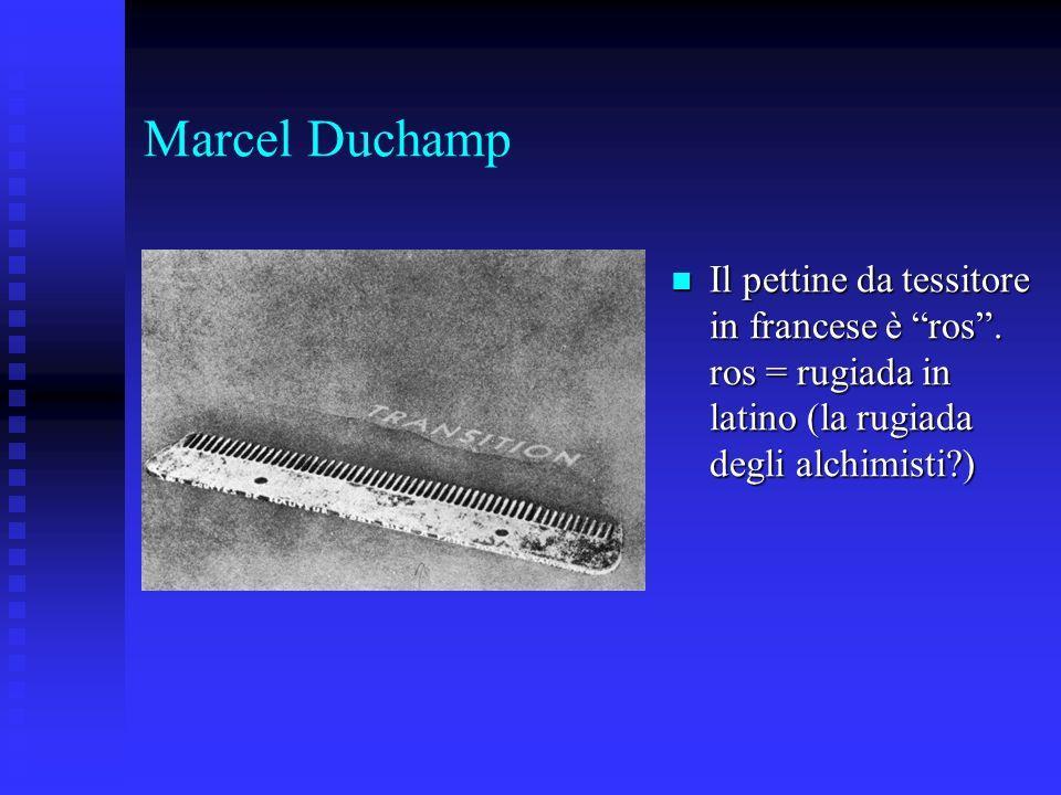 Marcel DuchampIl pettine da tessitore in francese è ros .