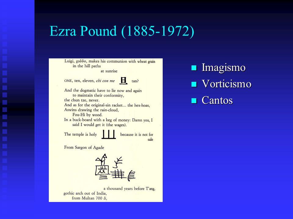 Ezra Pound (1885-1972) Imagismo Vorticismo Cantos