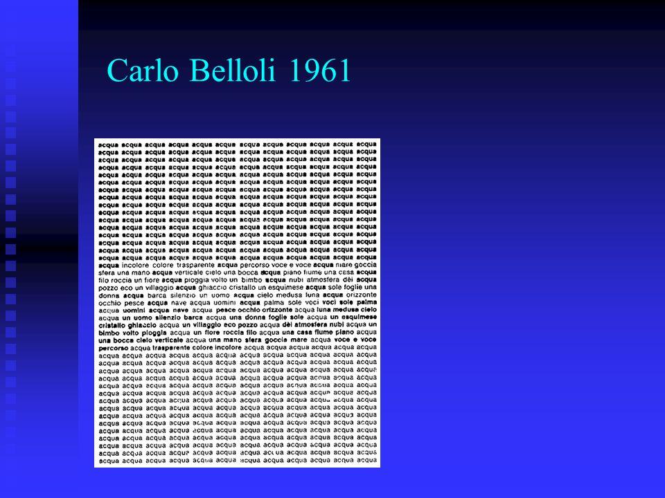 Carlo Belloli 1961