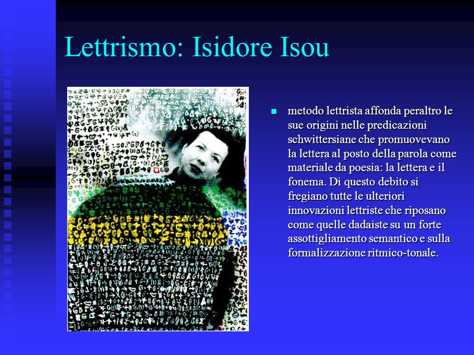 Lettrismo: Isidore Isou