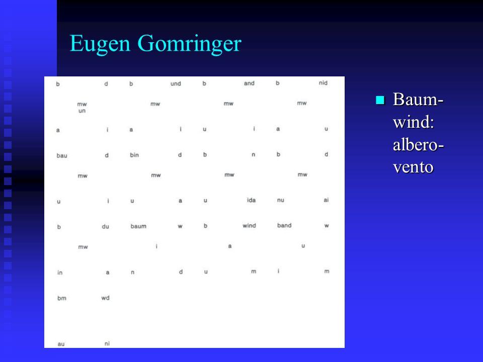 Eugen Gomringer Baum- wind: albero- vento