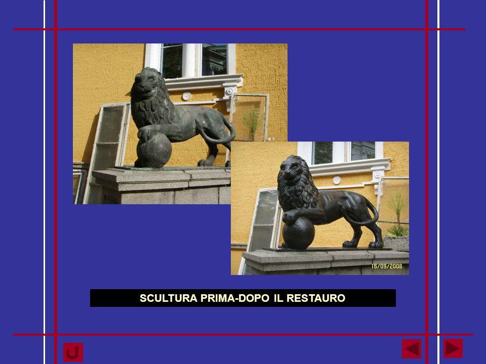 SCULTURA PRIMA-DOPO IL RESTAURO