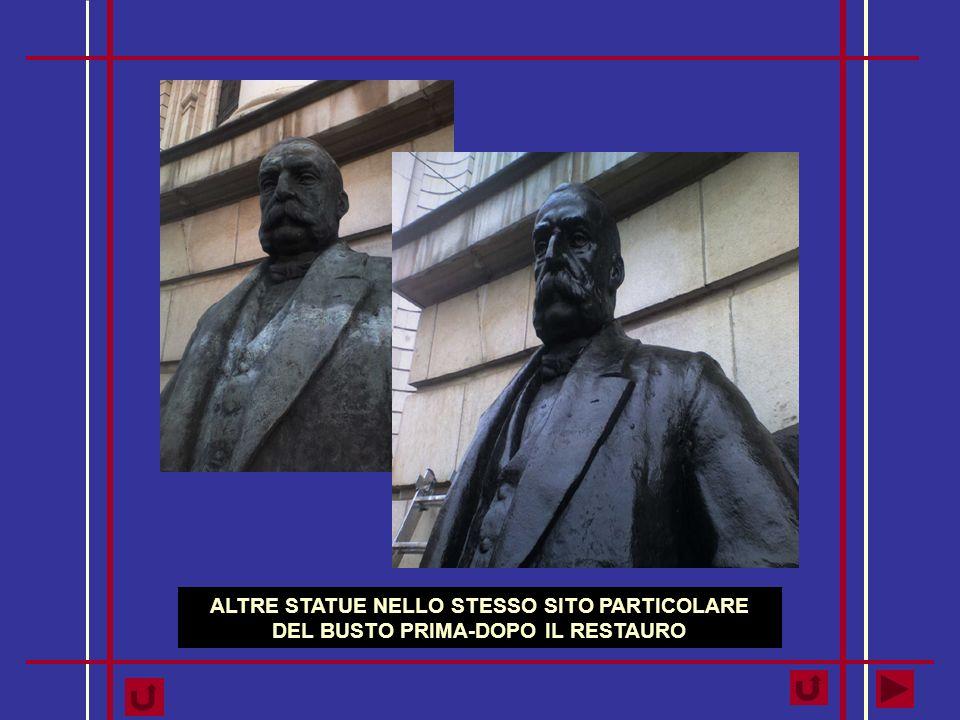 ALTRE STATUE NELLO STESSO SITO PARTICOLARE DEL BUSTO PRIMA-DOPO IL RESTAURO