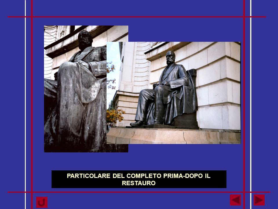 PARTICOLARE DEL COMPLETO PRIMA-DOPO IL RESTAURO