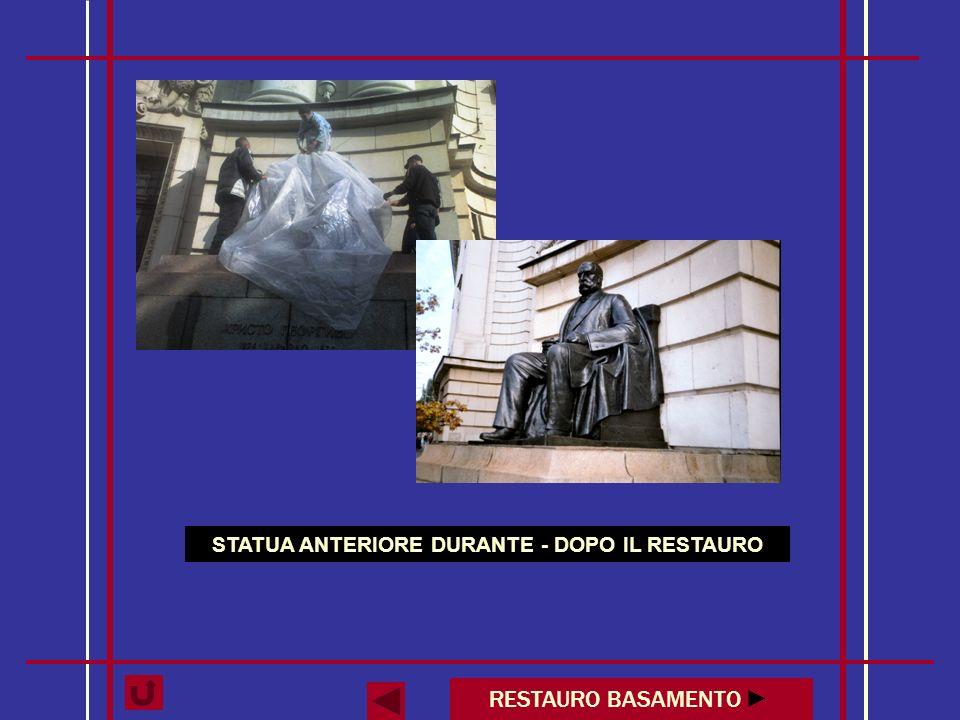 STATUA ANTERIORE DURANTE - DOPO IL RESTAURO