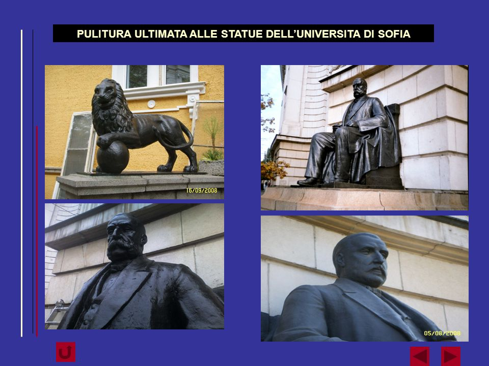 PULITURA ULTIMATA ALLE STATUE DELL'UNIVERSITA DI SOFIA