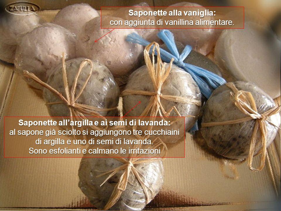 Saponette alla vaniglia: Saponette all'argilla e ai semi di lavanda: