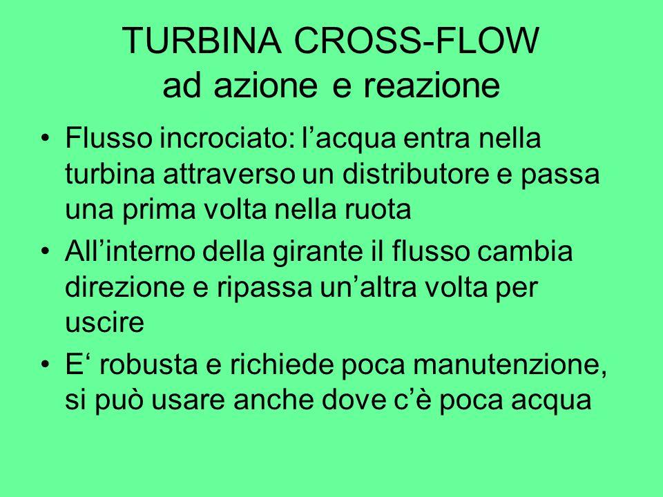 TURBINA CROSS-FLOW ad azione e reazione