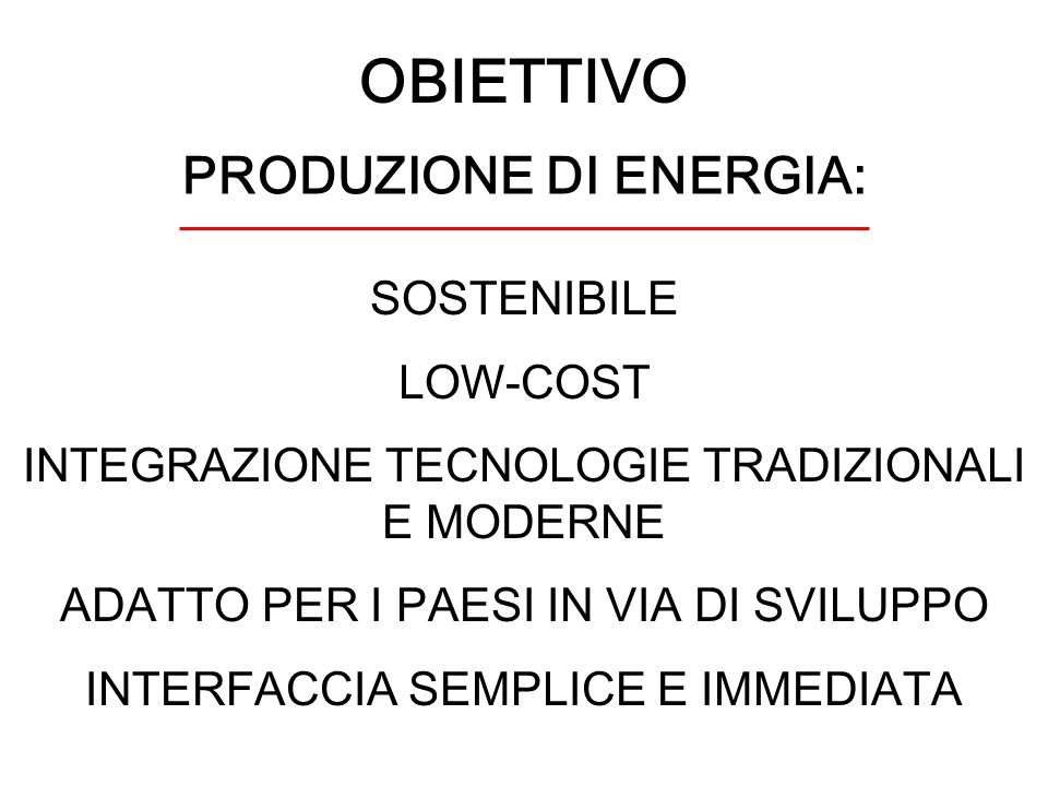 PRODUZIONE DI ENERGIA: