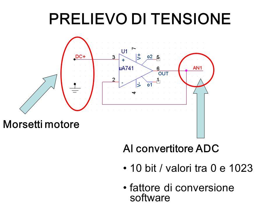 PRELIEVO DI TENSIONE Morsetti motore Al convertitore ADC