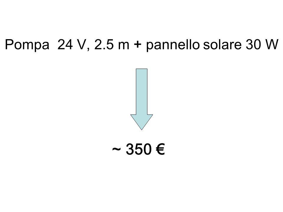 Pompa 24 V, 2.5 m + pannello solare 30 W