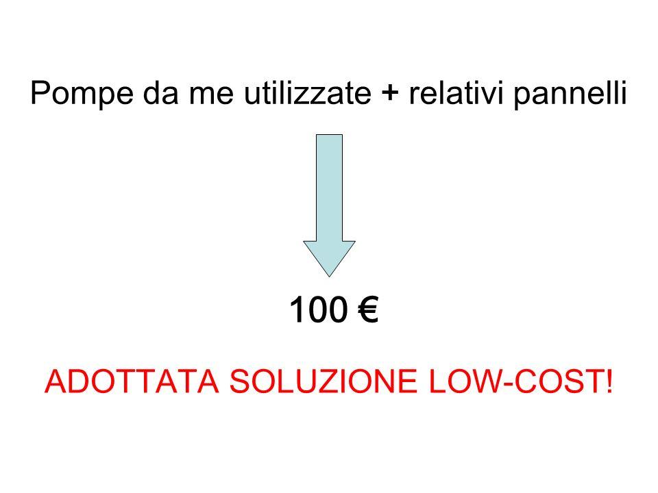 100 € Pompe da me utilizzate + relativi pannelli