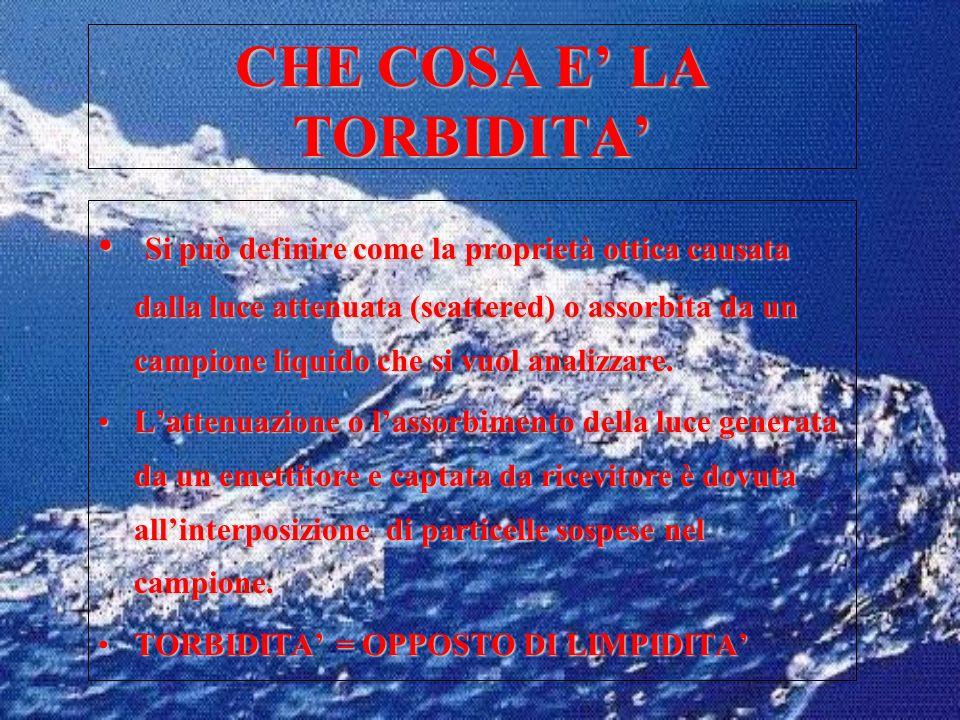 CHE COSA E' LA TORBIDITA'