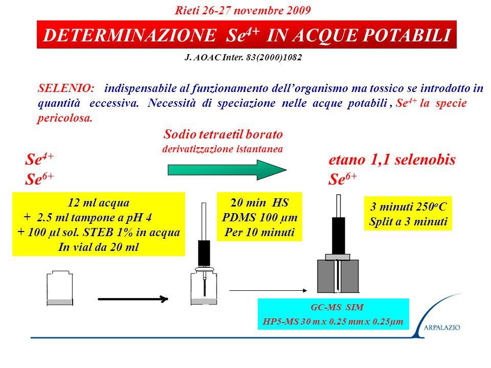 DETERMINAZIONE Se4+ IN ACQUE POTABILI