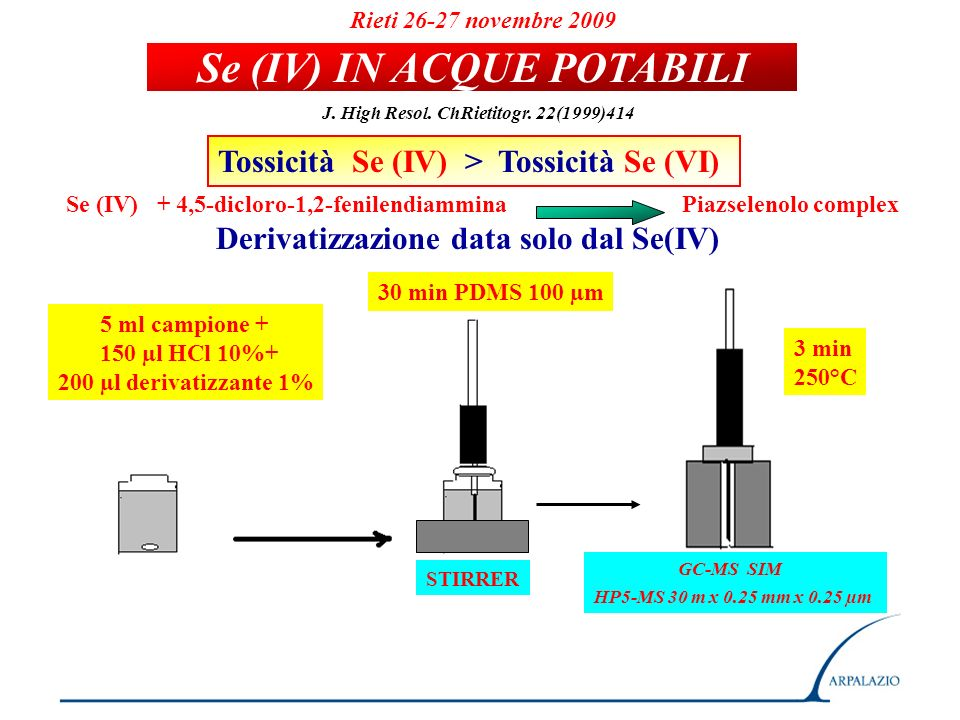 Se (IV) IN ACQUE POTABILI
