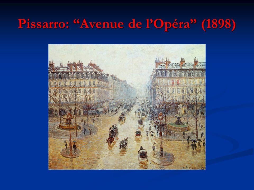 Pissarro: Avenue de l'Opéra (1898)