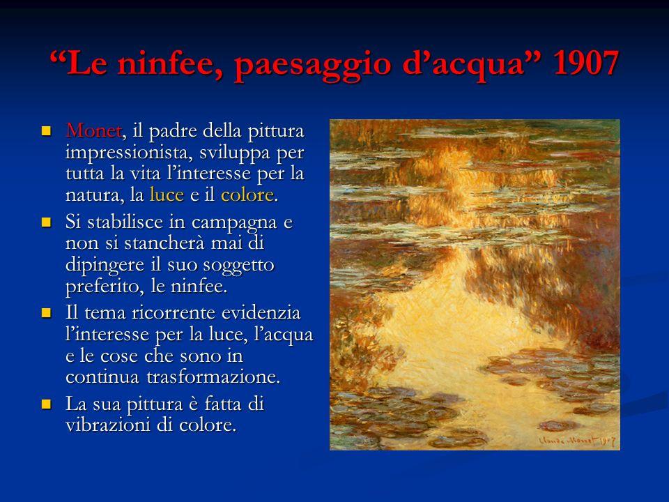 Le ninfee, paesaggio d'acqua 1907