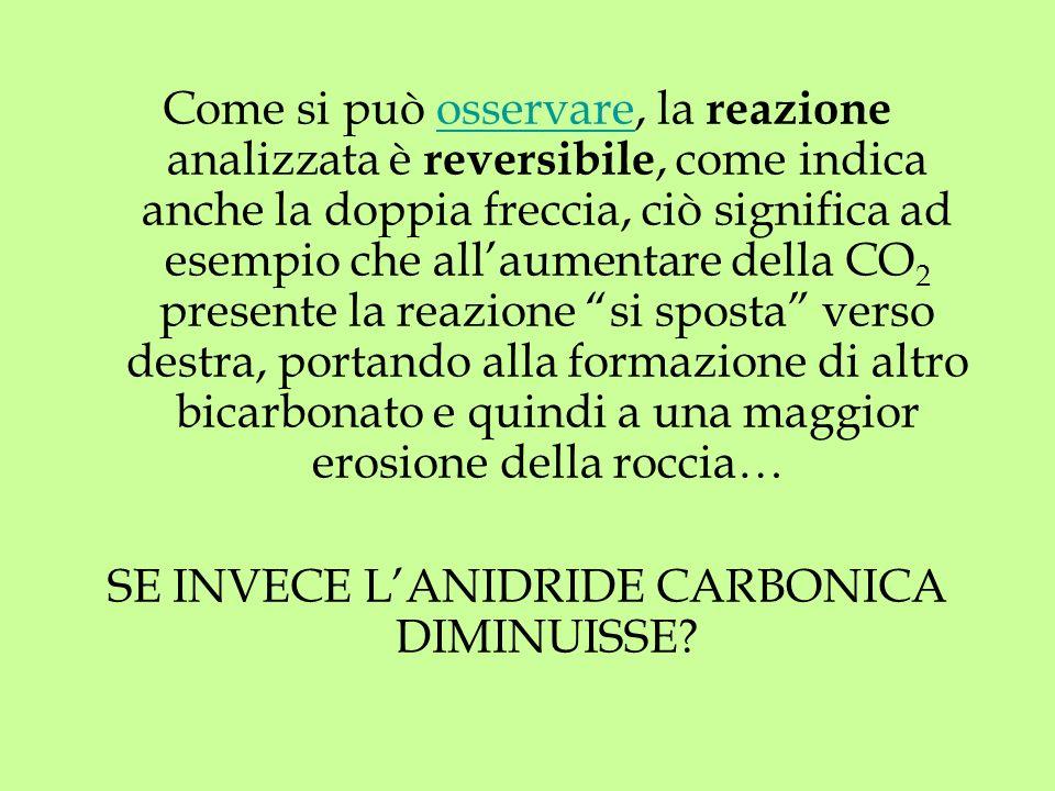 SE INVECE L'ANIDRIDE CARBONICA DIMINUISSE
