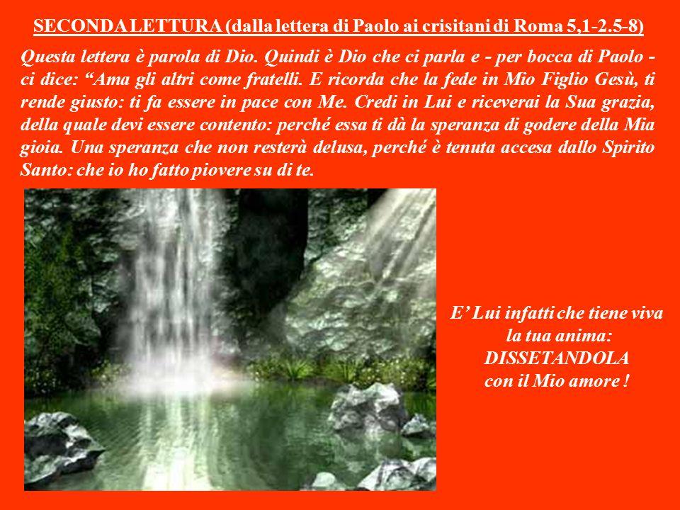 SECONDA LETTURA (dalla lettera di Paolo ai crisitani di Roma 5,1-2