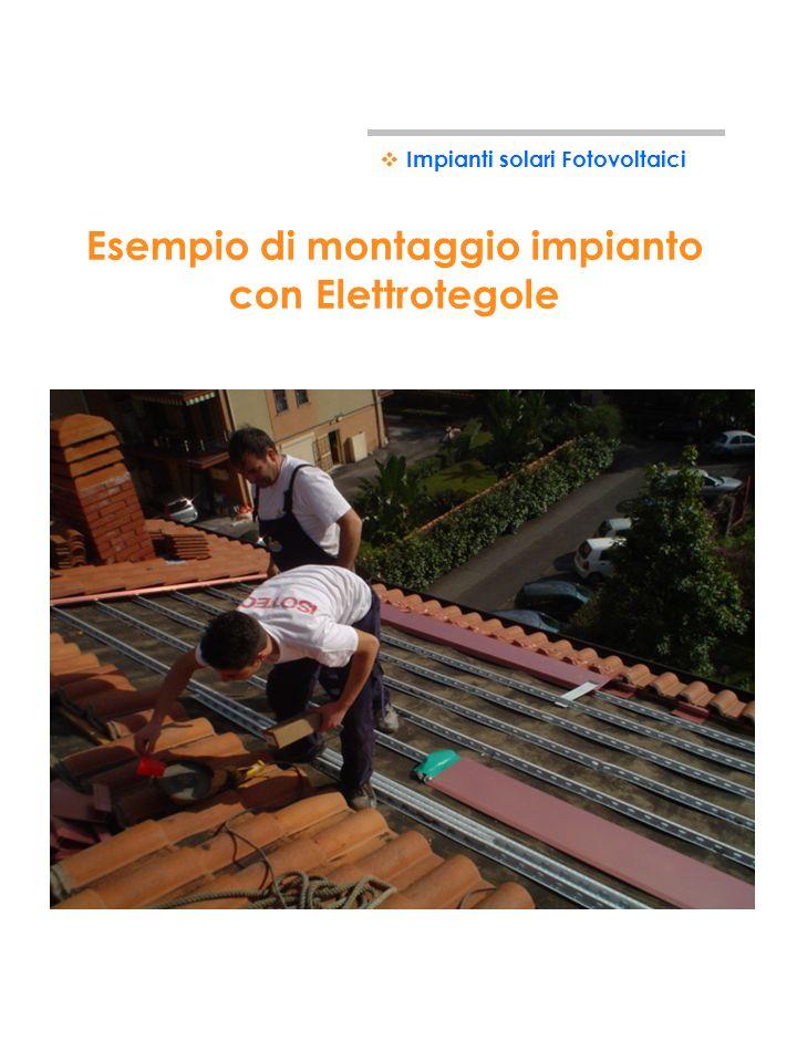 Esempio di montaggio impianto con Elettrotegole