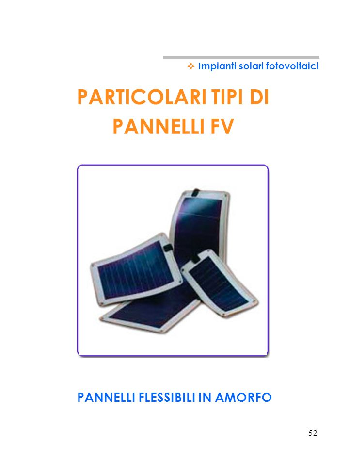 PANNELLI FLESSIBILI IN AMORFO