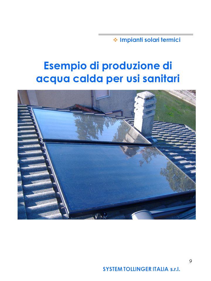 Esempio di produzione di acqua calda per usi sanitari