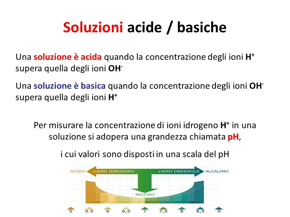 Soluzioni acide / basiche