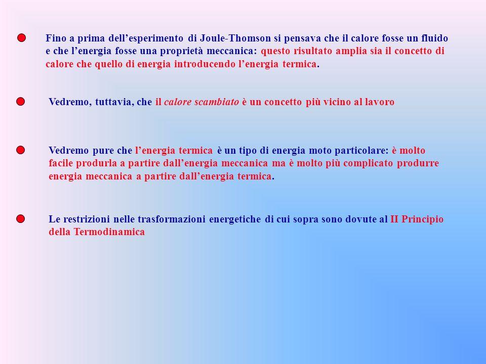 Fino a prima dell'esperimento di Joule-Thomson si pensava che il calore fosse un fluido
