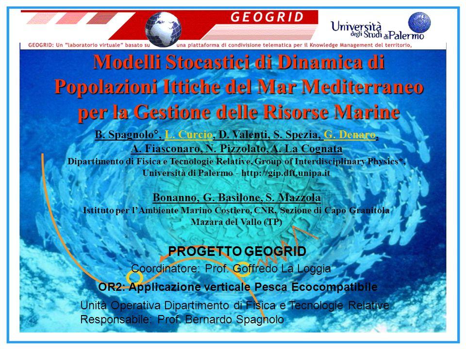 Modelli Stocastici di Dinamica di Popolazioni Ittiche del Mar Mediterraneo per la Gestione delle Risorse Marine